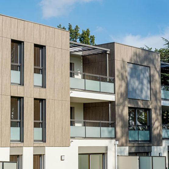 panneaux stratifi s hpl pour bardage et garde corps abet laminati france. Black Bedroom Furniture Sets. Home Design Ideas