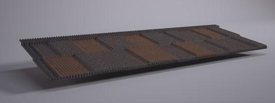panneaux tuiles m talliques aspect petite tuile plate et ardoise ahi roofing. Black Bedroom Furniture Sets. Home Design Ideas