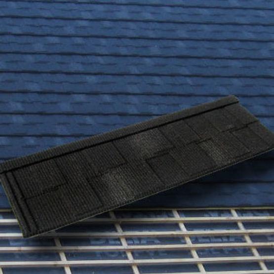 Panneaux tuiles m talliques aspect petite tuile plate et ardoise gerard senator ahi roofing for Tuile et ardoise