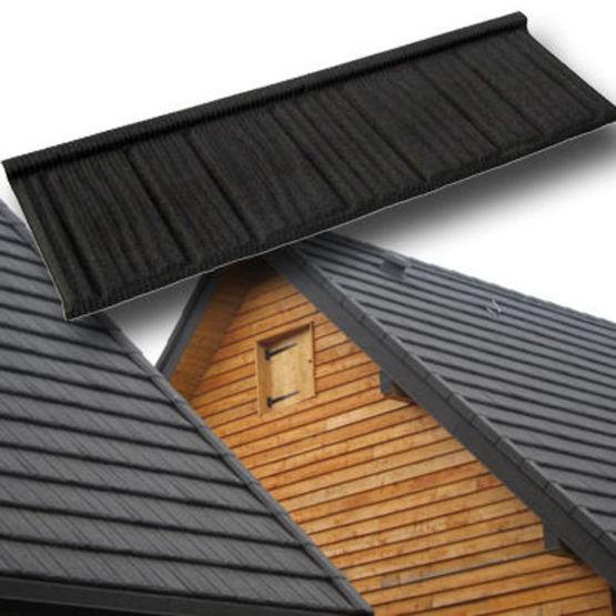 panneaux tuiles m talliques aspect tuile plate et pierre ahi roofing. Black Bedroom Furniture Sets. Home Design Ideas