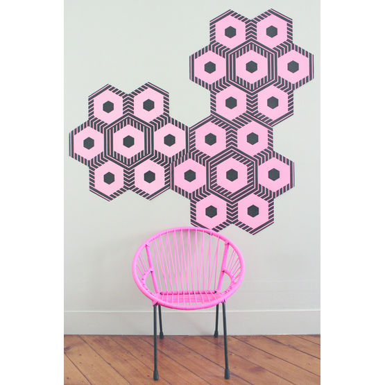 Papier Peint Hexagonal Pour Decoration Murale Dominos Beauregard