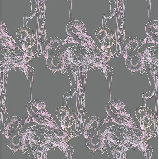 Papier Peint Imprime Exempt De Solvant Flamingo Atelier Virgul