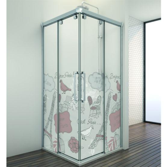 Paroi de baignoire et douche panneaux coulissants - Baignoire et douche cote a cote ...