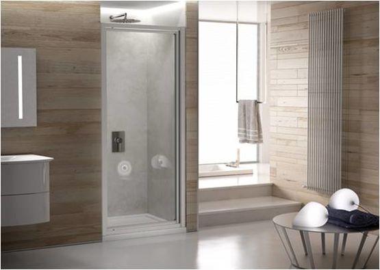 paroi de douche avec porte pivotante verre clair fordham