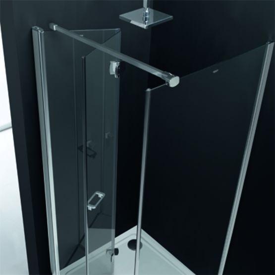 Paroi de douche en verre de s curit panneaux pliables profiltek - Reglementation douche de securite ...