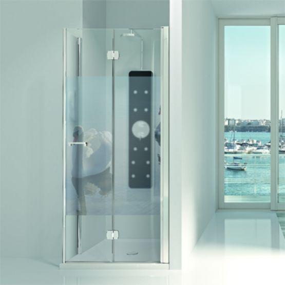 paroi de douche en verre de s curit panneaux pliables arcoiris plus profiltek. Black Bedroom Furniture Sets. Home Design Ideas