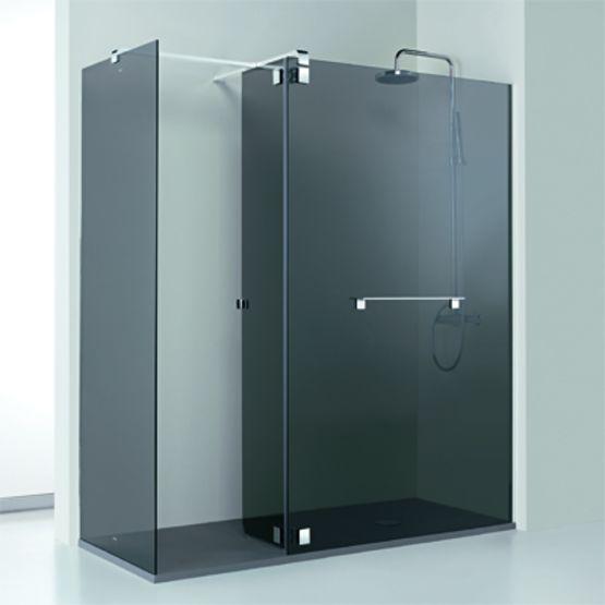 paroi pour douche avec panneaux fixes et volets pivotants belus profiltek. Black Bedroom Furniture Sets. Home Design Ideas