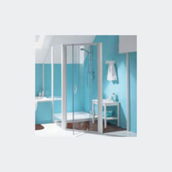 Parois de douche en verre avec acc s de face ou en angle for Parois de douche en verre