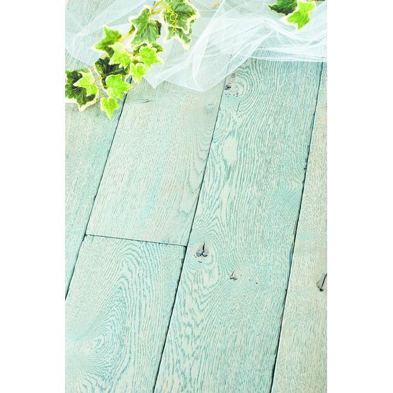parquet ch ne aspect ancien teint bleu plancher vieilli. Black Bedroom Furniture Sets. Home Design Ideas