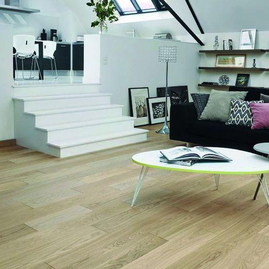 parquet contrecoll en ch ne finition verni bois flott bois flott panaget. Black Bedroom Furniture Sets. Home Design Ideas