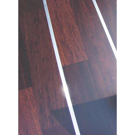 parquet en bois exotique avec filet aluminium weng boen parkett. Black Bedroom Furniture Sets. Home Design Ideas