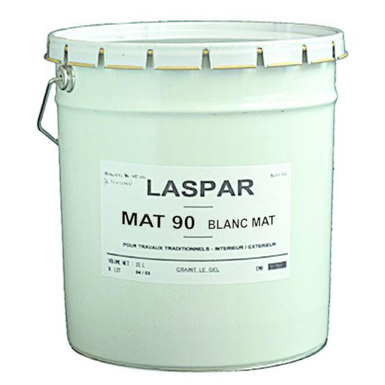 peinture acrylique blanche opacifiante mat 90 laspar. Black Bedroom Furniture Sets. Home Design Ideas