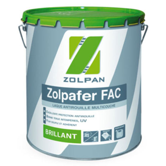 Zolpafer fac peinture antirouille brillante batiproduits for Peinture a la resine
