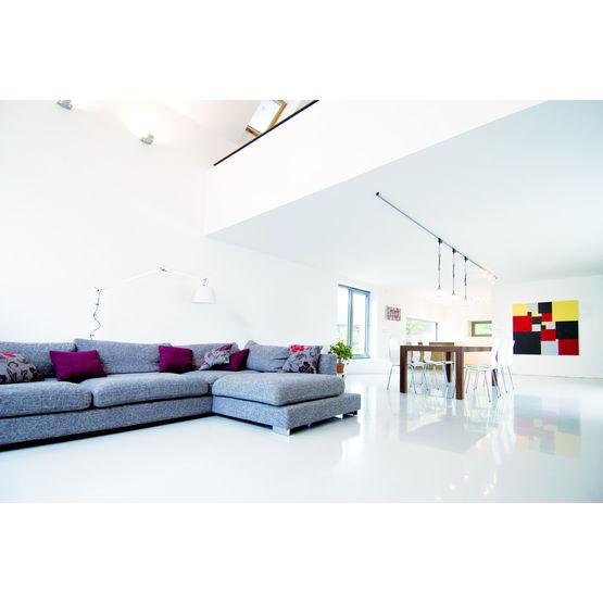 peinture blanche lavable base de produits naturels sans cov blanc mat murs et plafonds. Black Bedroom Furniture Sets. Home Design Ideas