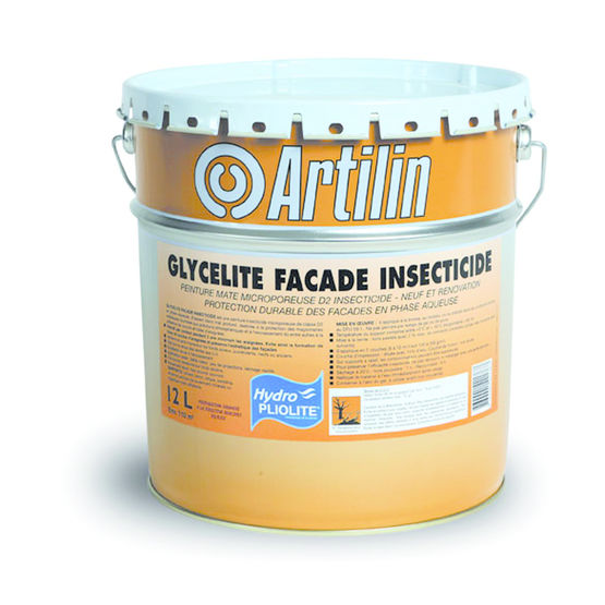 peinture insecticide pour fa ades glycelite fa ade insecticide artilin. Black Bedroom Furniture Sets. Home Design Ideas