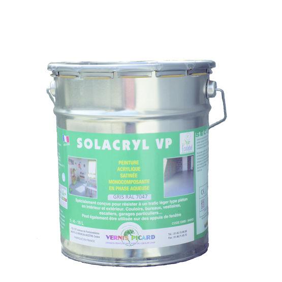 Peinture satin e pour sols int rieurs et ext rieurs solacryl vp vernis picard onip for Peinture pour sanitaire