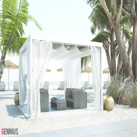 pergola toit plat r tractable gennius france. Black Bedroom Furniture Sets. Home Design Ideas