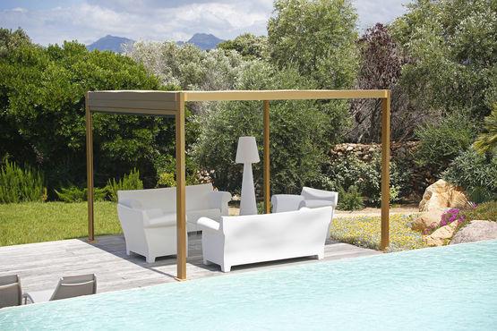 pergola toit plat r tractable saki ke gennius france. Black Bedroom Furniture Sets. Home Design Ideas