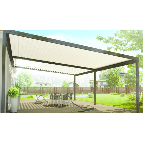 pergola aluminium lames inclinables 90 pergola bioclimatique v randa rideau. Black Bedroom Furniture Sets. Home Design Ideas