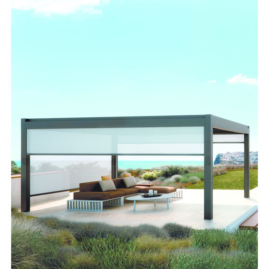 pergola aluminium avec toile de protection coulissante nomo pratic. Black Bedroom Furniture Sets. Home Design Ideas