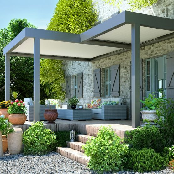 pergola bioclimatique continuum t lames plates pergola. Black Bedroom Furniture Sets. Home Design Ideas