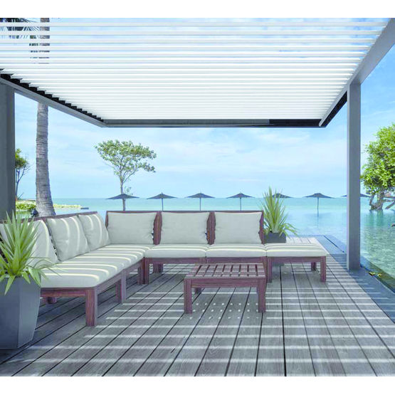 pergola bioclimatique monobloc pr te poser el ance si tech industrie. Black Bedroom Furniture Sets. Home Design Ideas
