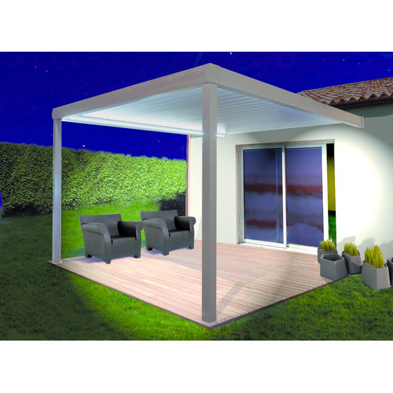 pergola mitjavila avec toiture lames orientables en. Black Bedroom Furniture Sets. Home Design Ideas