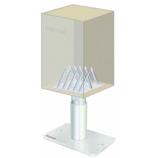 pied porteur en acier pour poteaux bois pedix eurotec. Black Bedroom Furniture Sets. Home Design Ideas