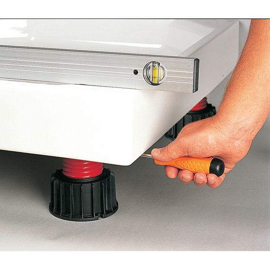 Pieds stabilisateurs pour receveur de douche lazer - Receveur lazer ...