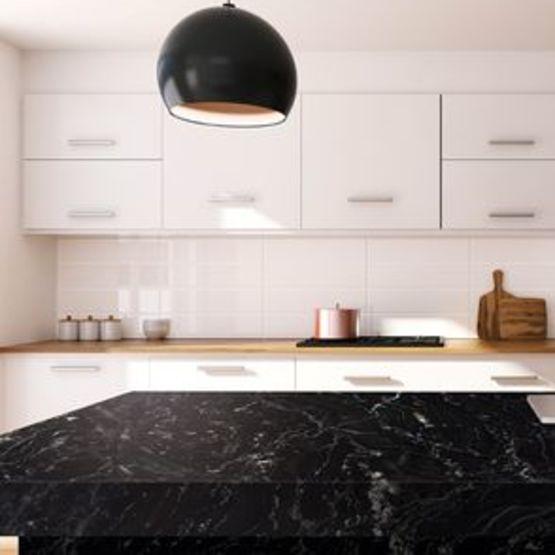 Black Kenai Pierre Naturelle Pour Des Plans De Travail De Cuisine Batiproduits