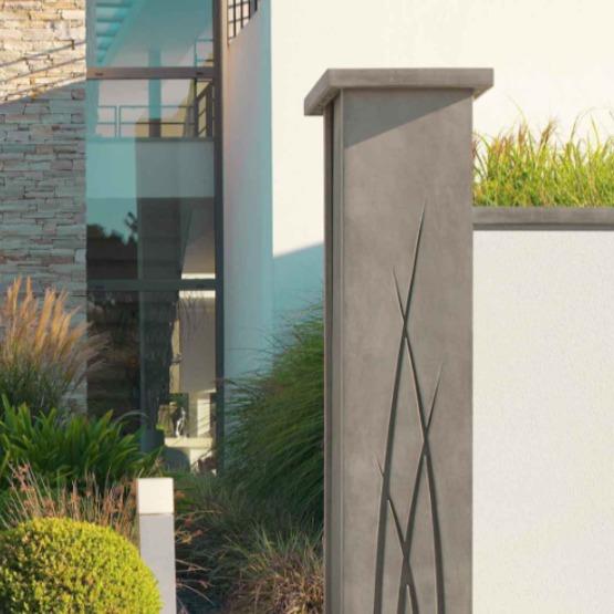 epur le pilier de portail contemporain par orsol. Black Bedroom Furniture Sets. Home Design Ideas