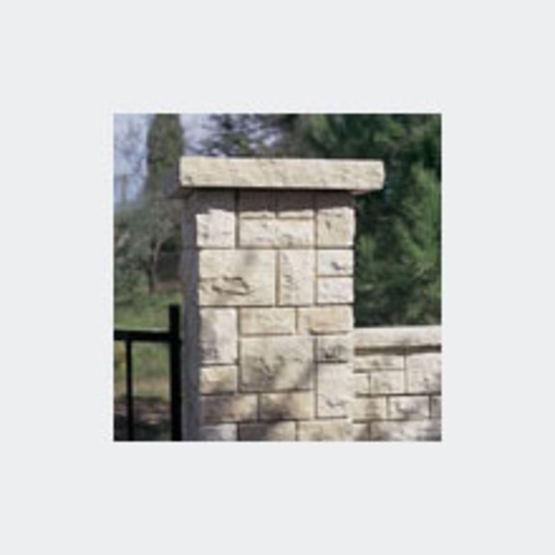 Pilier de portail en pierre reconstitu e castel pilier for Pilier decoratif exterieur