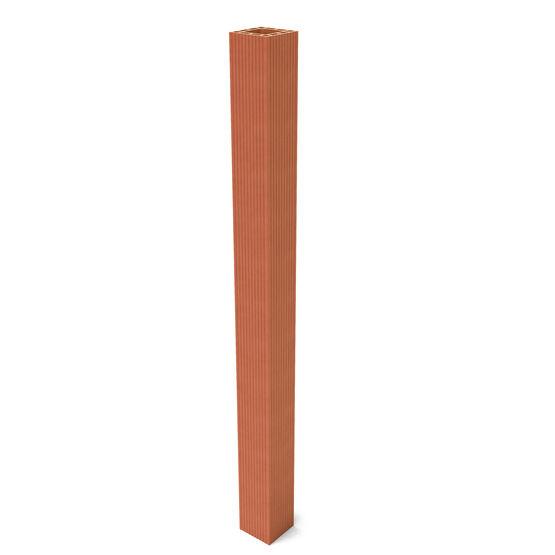 Pilier monobloc carr en terre cuite pilier monobloc for Boisseau de cheminee en terre cuite