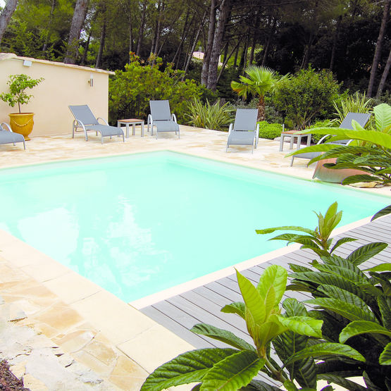 piscine en panneau acier laqu orchid e dujardin piscines. Black Bedroom Furniture Sets. Home Design Ideas