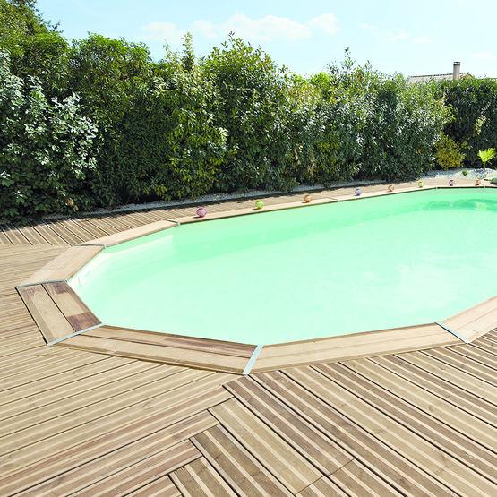 piscines ovales en pin trait autoclave classe 4 piscine
