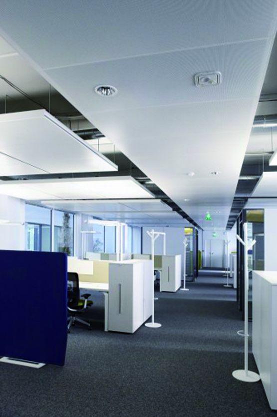 Plafond m tallique acoustique pr t poser plafom tal for Materiel plafond suspendu