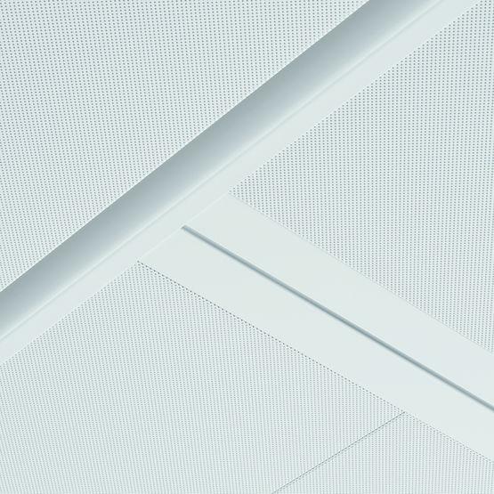 Plafond m tallique suspendu pour tertiaire syst me 330 sas international - Faux plafond resille metallique ...