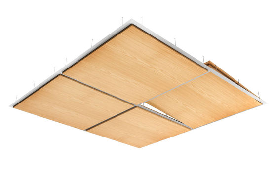 Plafond suspendu d coratif en bois v ritable essences fines for Materiel plafond suspendu