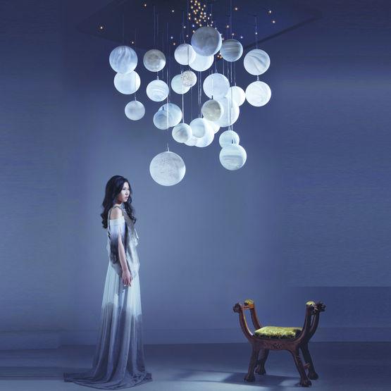 plafonnier ou suspension en verre souffl plan tes semeur d 39 toiles. Black Bedroom Furniture Sets. Home Design Ideas