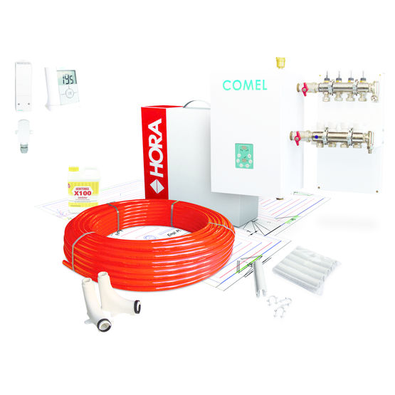 Plancher chauffant hydraulique multi nergie comel hora for Plancher chauffant hydraulique