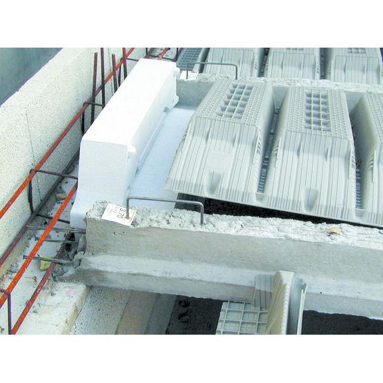 Plancher hourdis quip de rupteurs de pont thermique - Isolation des plafonds sous plancher hourdis beton ...