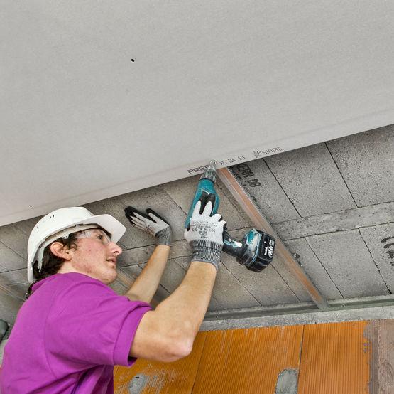 Plaque de plâtre pour faux-plafond à entraxe élargi | SINIAT PRÉGY ...