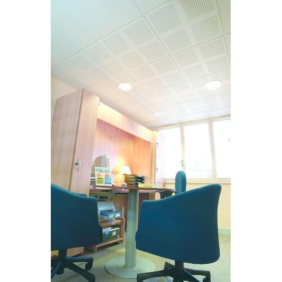 Plaques perfor es pour plafond acoustique knauf for Materiel faux plafond