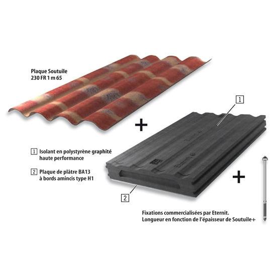 Soutuile 230 fr teinte flamm e plaques support de - Pose de tuile canal sur plaque ondulee ...