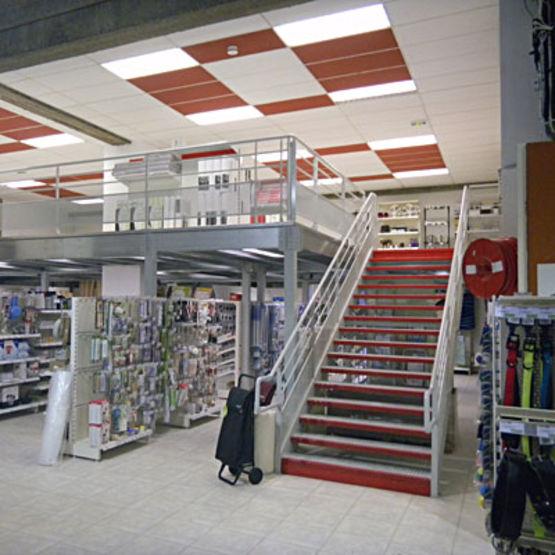 Plateforme pour r alisation d 39 un tage ouvert en erp for Plateforme mezzanine en kit