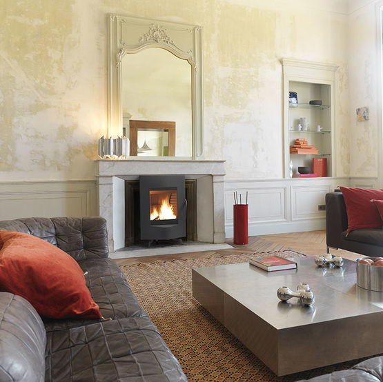 mandra po le bois 5 kw post combustion et haut rendement. Black Bedroom Furniture Sets. Home Design Ideas