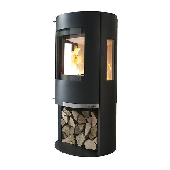 onsen po le bois 6 kw en acier avec foyer en b ton r fractaire. Black Bedroom Furniture Sets. Home Design Ideas