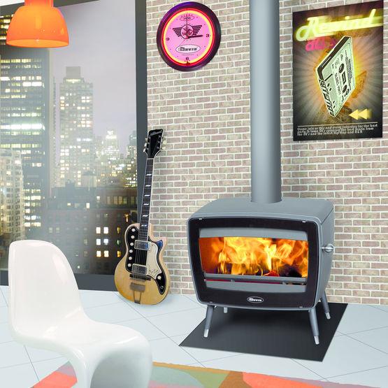 po le bois double combustion aux lignes vintage vintage 50 dovre. Black Bedroom Furniture Sets. Home Design Ideas