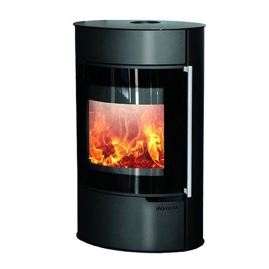 tana sur socle po le bois en acier post combustion. Black Bedroom Furniture Sets. Home Design Ideas