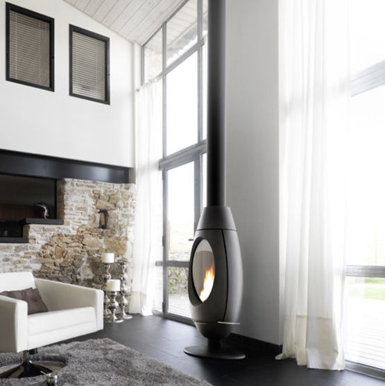 ove po le bois en fonte 10 kw avec syst me de post combustion. Black Bedroom Furniture Sets. Home Design Ideas